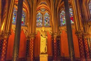 Louis 9Th Memorial Stained Glass Chapel Sainte Chapelle Paris